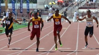 USC&#039;s BeeJay Lee claims men&#039;s 100 meter title