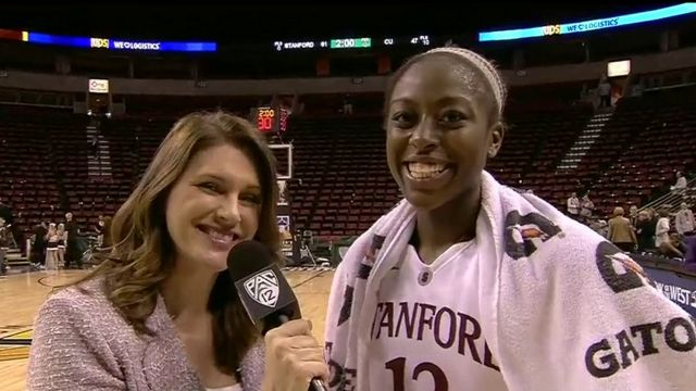 Chiney Ogwumike dishes on Saturday night's win