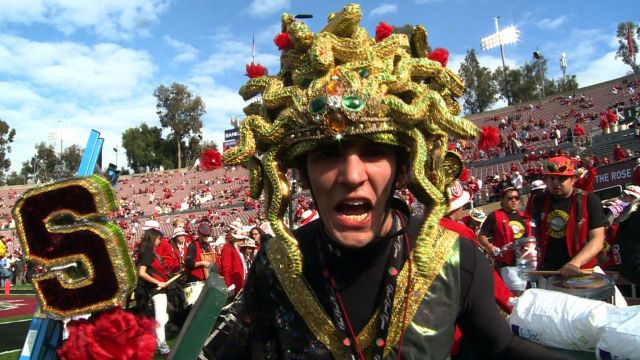 Stanford drum major debuts new Rose Bowl costume