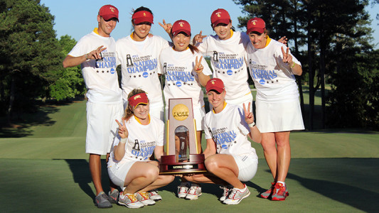 USC Women's Golf wins NCAA championship